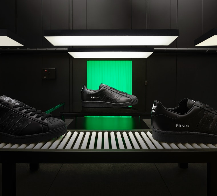 convergencia Inmundicia Hizo un contrato  Prada x adidas Collaborate on Superstar Silhouette – OVERSTANDARD –  FASHION, ART, DESIGN, CULTURE, GASTRONOMY
